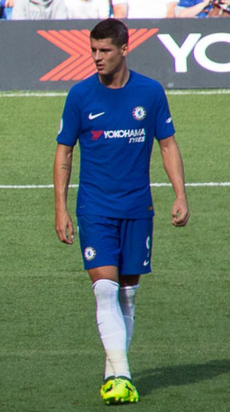 Álvaro Morata - Morata playing for Chelsea in 2017