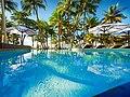Morning sunrise over the top pool at Castaways Resort ^ Spa, Mission Beach, Queensland, Australia - panoramio.jpg