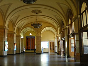 Moskovsky railway station (Saint Petersburg) - Image: Moskovsky Rail Terminal Hall