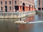 Motorised raft, Albert Dock, Liverpool - 2013-06-07 (37).JPG