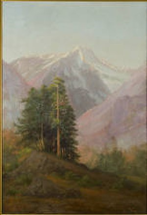 Booker Mountain - Hill's oil on canvas painting of Mount Booker, 1903.