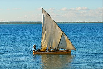 Mozambique - Mozambican dhow.