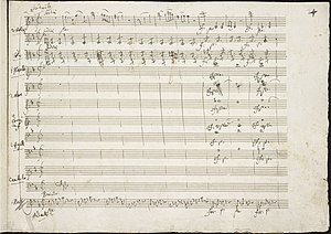 Piano Concerto No. 21 (Mozart) - The opening of the second movement in Mozart's handwriting.
