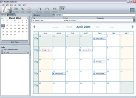 Screenshot di Mozilla Calendar