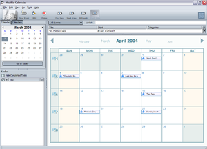 Mozilla calendar