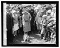 Mrs. Coolidge & raccoon (Rebecca), Easter egg rolling, 4-18-27 LCCN2016842994.jpg