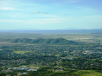 Mount Louisa, Queensland - Mount Louisa, with the Ross River in the foreground and Cleveland Bay in the distance