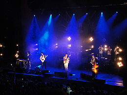 Mumford & Sons performing at Brighton Dome in October 2010 11.JPG