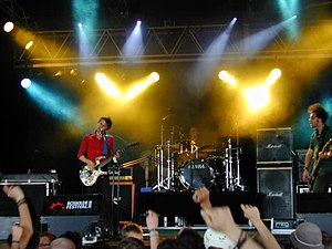 Muse (band) - Muse performing at Roskilde Festival in Denmark, July 2000