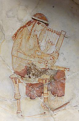 Muse lyre Louvre CA482