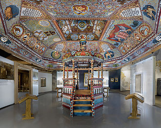 Gwoździec Synagogue - Reconstructed vault and bimah in the Museum of the History of Polish Jews, Warsaw