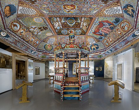 Museum of the History of Polish Jews in Warsaw Main exhibition Gwoździec synagogue.jpg