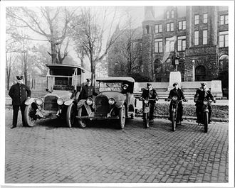 Police motorcycle - Muskegon, Michigan police in 1920