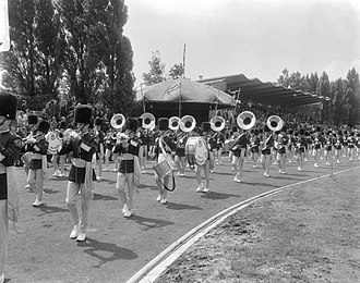Cardinal Dougherty High School - CDHS marching band at the World Music Championship 1966