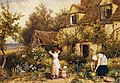 Myles Birket Foster - At the Cottage Door.JPG