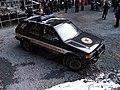 Nádraží Veleslavín, DOD, jáma, auto Báňské záchranné služby.jpg