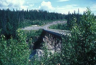 Nass River - Nass River Bridge carries Highway 37 over the river