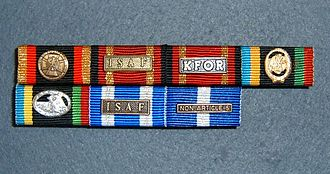 Awards and decorations of the German Armed Forces - Image: NATO Bandschnalle