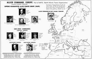 Supreme Headquarters Allied Powers Europe - Organisation of ACE in 1952.