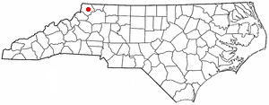 Jefferson, North Carolina - Image: NC Map doton Jefferson