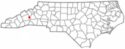 Location of Montreat, North Carolina