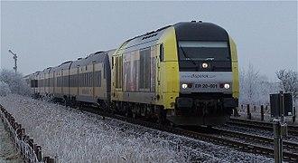 Transdev Germany - Nord-Ostsee-Bahn train between Hamburg and Sylt