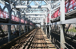 Williamsburg Bridge - View of tracks on the bridge