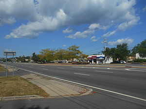 New York State Route 59 - NY 59 westbound through Nanuet, after the interchange with NY304