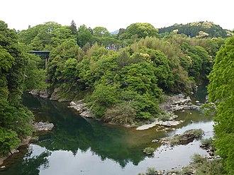 Nagashino Castle - Image: Nagashino C Ushibuchibashi