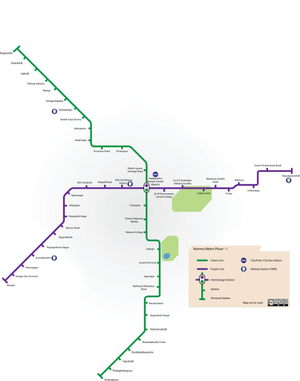 Metro Green Line Map List of Namma Metro stations   Wikipedia