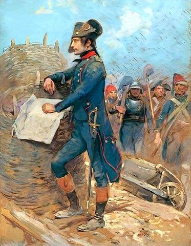 Наполеон в Тулоне. Детайль (XIX век)