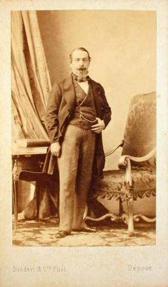 Carte de visite - 1859 carte de visite of Napoleon III by Disdéri, which popularized the CdV format