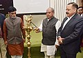 Narendra Singh Tomar lighting the lamp at inauguration of the GeoMGNREGA, which was launched in 110 Districts in the country, in New Delhi.jpg