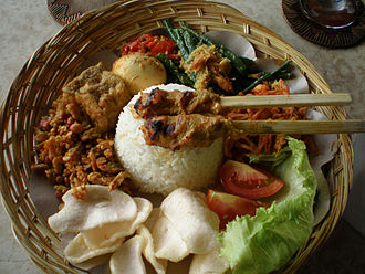 Bumbu (seasoning) - Indonesian dishes such as Balinese nasi campur are rich with bumbu (herbs, spices, and seasoning)