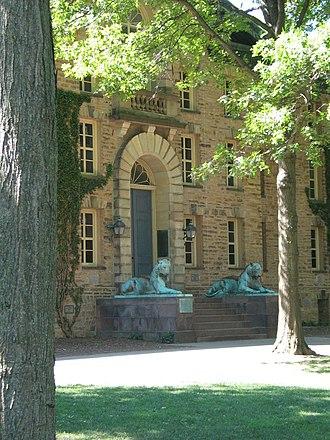 Nassau Hall - Nassau Hall entrance