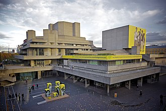 Royal National Theatre - The National Theatre from Waterloo Bridge
