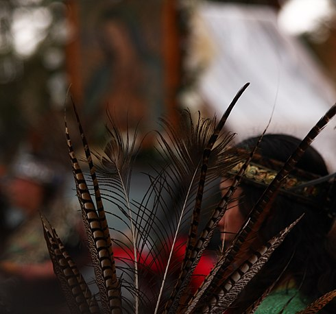 Ceremonies play a key part in Native American philosophy. Native American Faith (4180525160).jpg