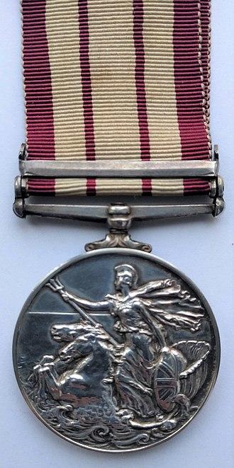 Naval General Service Medal (1915) - Image: Naval General Service Medal 1915 (Reverse)