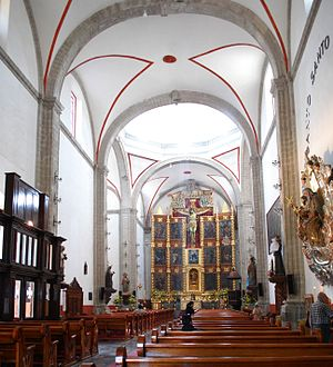 Tacuba, Mexico City - Nave of the San Gabriel Parish