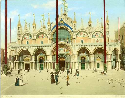Naya, Carlo (1816-1882) - n. 003 - Venezia (Piazza san Marco) - Colorita a mano
