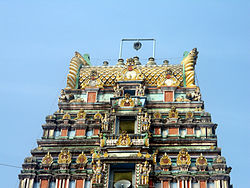 Gopuram at Ryali Temple