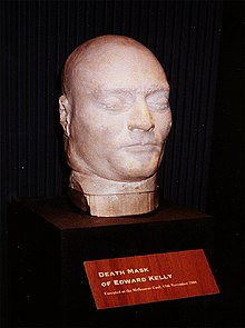 Death mask of Australian bushranger Ned Kelly.