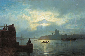 Lev Lagorio. Moon Night on the Neva (1898).