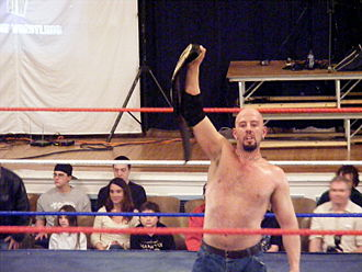 Justin Credible - Polaco as Big Time Wrestling Heavyweight Champion.