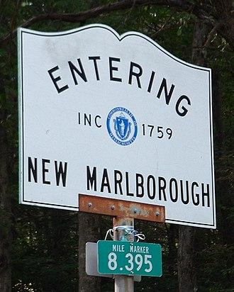 New Marlborough, Massachusetts - Entering New Marlborough - Inc. 1759