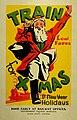 New Zealand Railway poster - Train for Xmas & New Year Holidays 1935 (10469005954).jpg