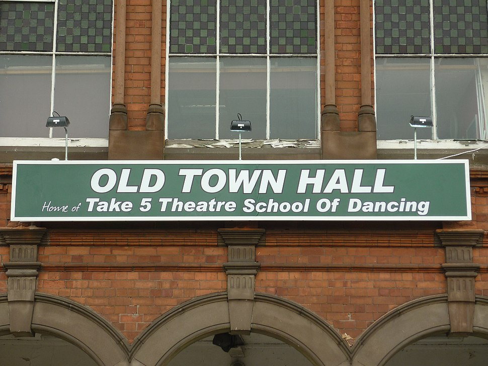 New old town hall sign