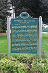 Newburgh Methodist Church historical marker Livonia Michigan.JPG