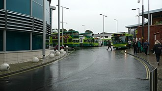 Newport bus station (Isle of Wight) - A view taken from Stand A of the bus station, looking towards Stand B