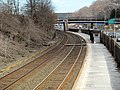 Newtonville station from Walnut Street stairs, March 2013.JPG